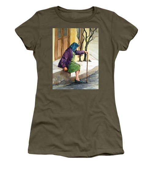 Women's T-Shirt featuring the painting Resting by Sam Sidders