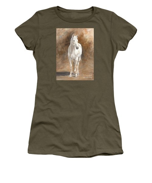 Retired Thoroughbred Race Horse Rustic Women's T-Shirt (Athletic Fit)