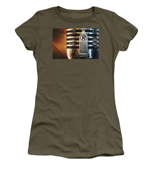 Retro Microphone Women's T-Shirt (Athletic Fit)
