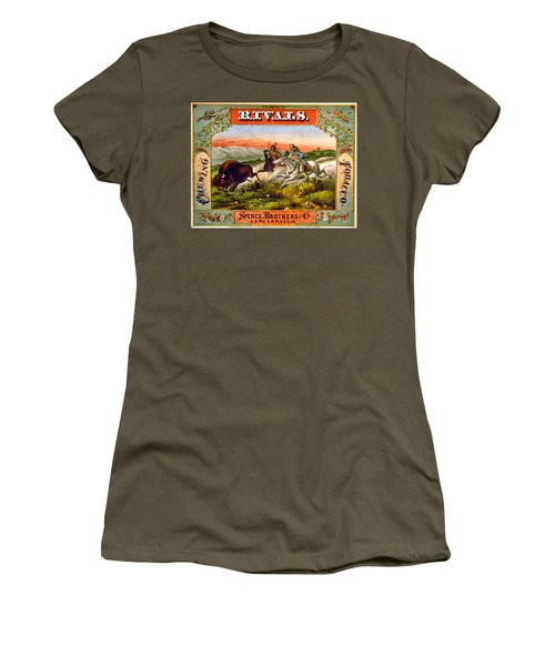 Women's T-Shirt (Junior Cut) featuring the photograph Retro Tobacco Label 1872 D by Padre Art