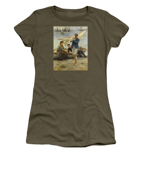 Return From Fishing Women's T-Shirt (Athletic Fit)
