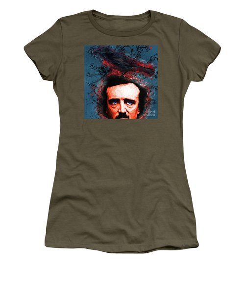 Women's T-Shirt featuring the photograph Reynolds I Became Insane With Long Intervals Of Horrible Sanity Edgar Allan Poe 20161102 Sq by Wingsdomain Art and Photography