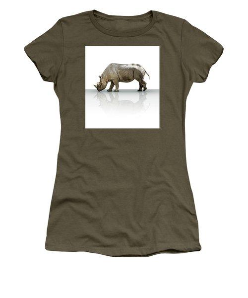 Rhinoceros Women's T-Shirt (Junior Cut) by James Larkin