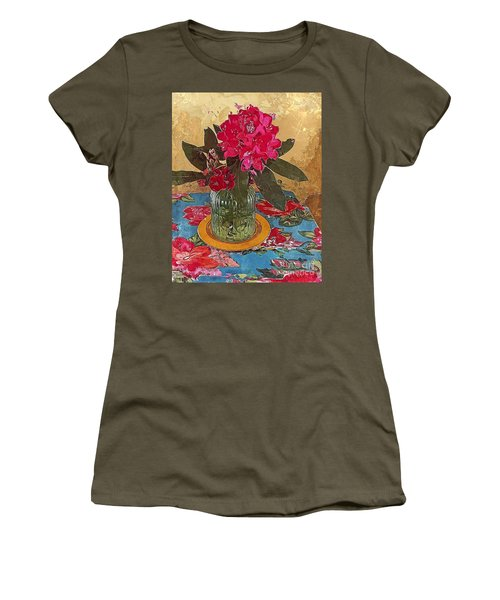Rhododendron Women's T-Shirt (Junior Cut) by Alexis Rotella