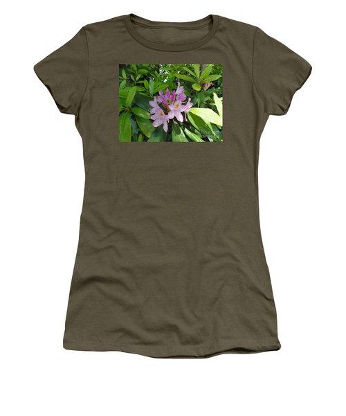 Women's T-Shirt (Junior Cut) featuring the photograph Rhododendron by Daun Soden-Greene