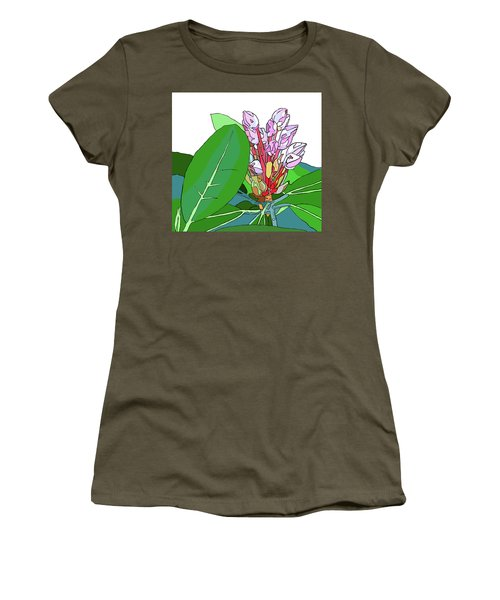 Rhododendron Graphic Women's T-Shirt (Junior Cut) by Jamie Downs