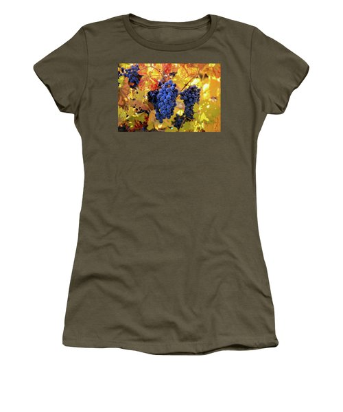 Rich Fall Colors With Grapes Women's T-Shirt (Athletic Fit)