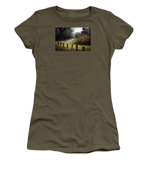 Riding Into The Fog Women's T-Shirt (Junior Cut) by Celso Bressan