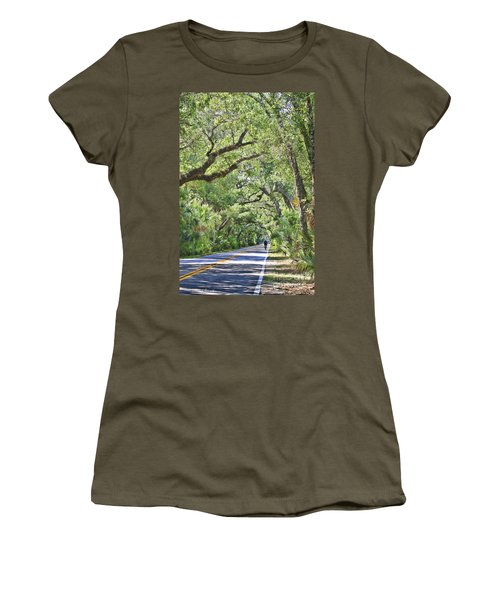 Riding The Ormond Loop Women's T-Shirt (Athletic Fit)