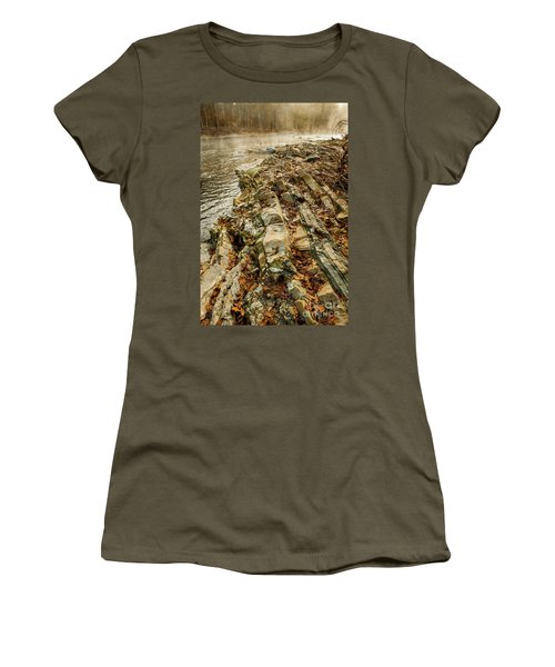 Women's T-Shirt (Junior Cut) featuring the photograph River Bank by Iris Greenwell