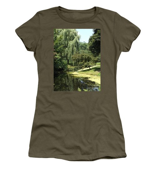 River Flows Through Women's T-Shirt (Junior Cut) by Erick Schmidt