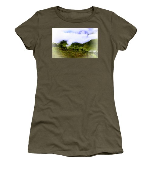 Women's T-Shirt (Junior Cut) featuring the photograph Road Through The Andes by Al Bourassa