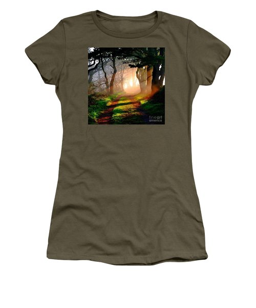Road Through The Woods Women's T-Shirt (Athletic Fit)