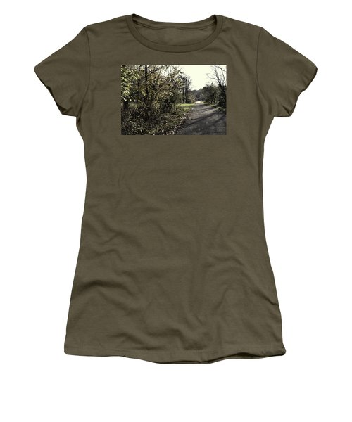 Road To Covered Bridge Women's T-Shirt (Junior Cut) by Joanne Coyle