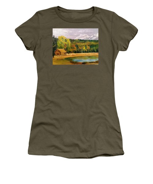 Road To Kintla Lake Women's T-Shirt (Junior Cut) by Larry Hamilton