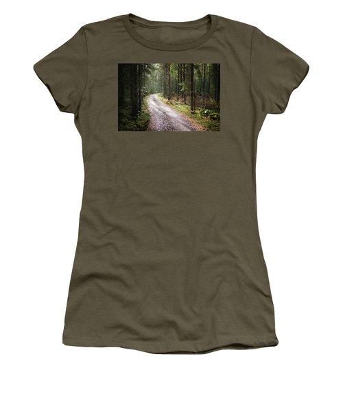 Road To The Light Women's T-Shirt (Junior Cut) by Teemu Tretjakov