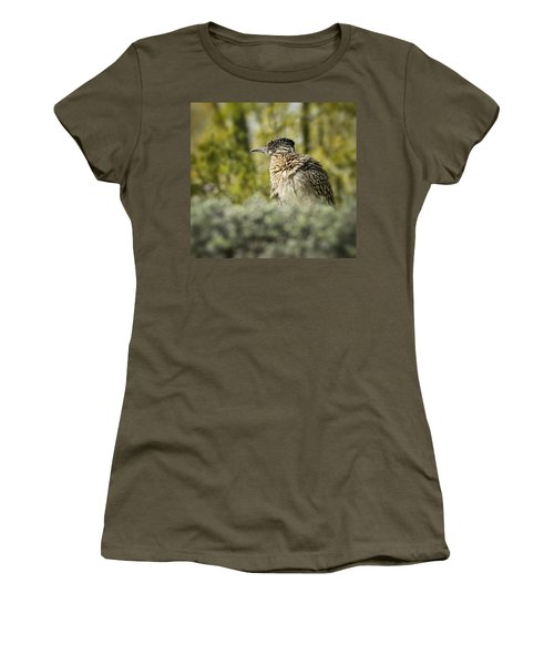 Roadrunner On Guard  Women's T-Shirt (Junior Cut) by Saija  Lehtonen