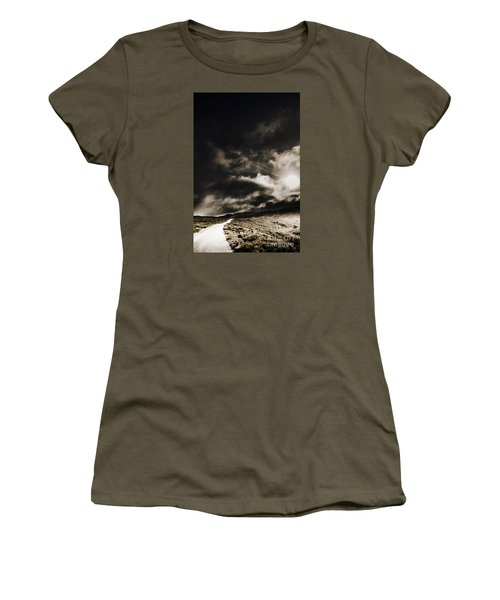 Women's T-Shirt featuring the photograph Roads Of Atmosphere  by Jorgo Photography - Wall Art Gallery