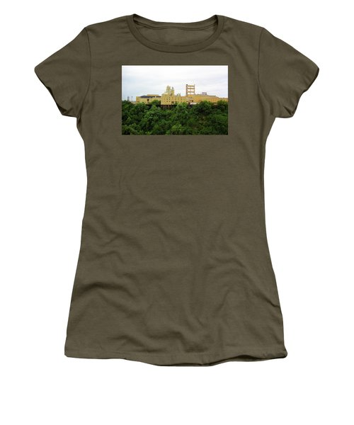 Women's T-Shirt (Junior Cut) featuring the photograph Rochester, Ny - Factory On A Hill by Frank Romeo