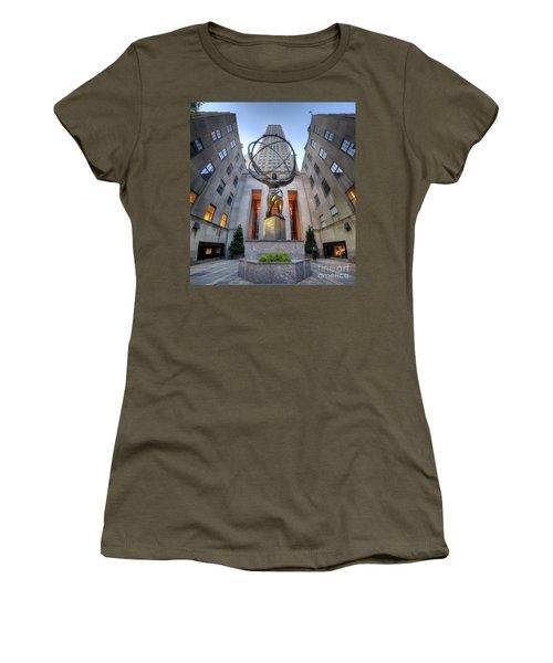 Rockefeller Centre Atlas - Nyc - Vertorama Women's T-Shirt