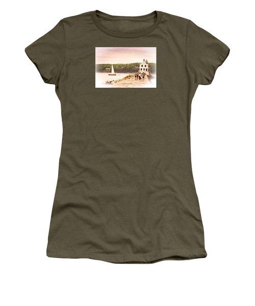 Rockland Breakwater Women's T-Shirt (Junior Cut) by Paul Miller