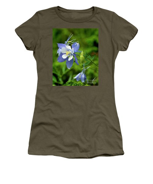 Rocky Mountain Blue Columbine Women's T-Shirt (Athletic Fit)