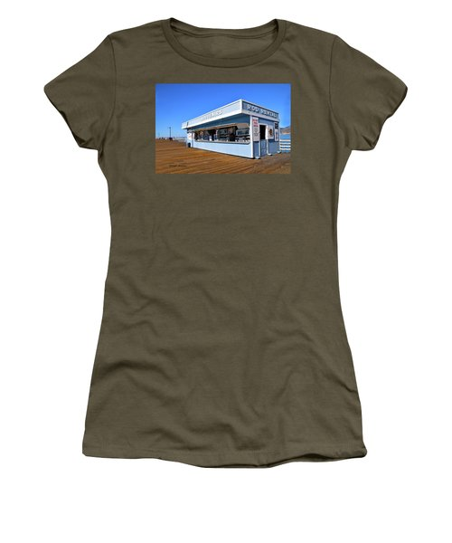 Women's T-Shirt (Junior Cut) featuring the photograph Rod Rental At The Pismo Beach Pier by Floyd Snyder
