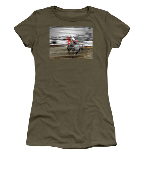 Rodeo Abstract V Women's T-Shirt (Athletic Fit)