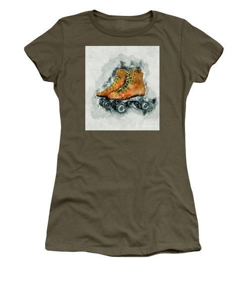 Roller Skates Women's T-Shirt (Athletic Fit)