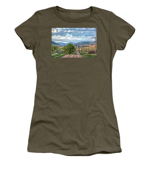 Rollercoaster Country Road Women's T-Shirt (Junior Cut) by Fiskr Larsen