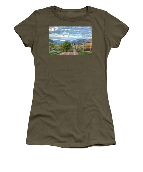 Rollercoaster Country Road Women's T-Shirt (Athletic Fit)