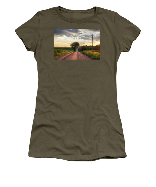 Rolling Down A Country Road Women's T-Shirt (Junior Cut) by Karen McKenzie McAdoo