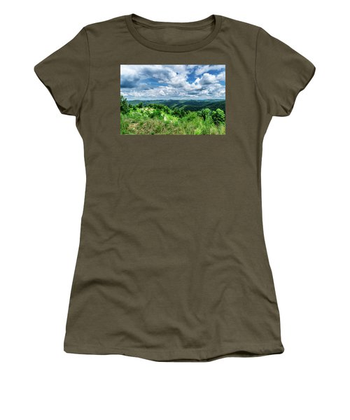 Rolling Hills And Puffy Clouds Women's T-Shirt