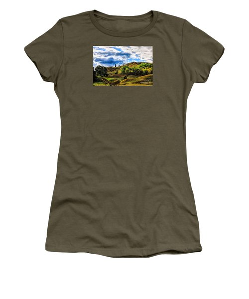 Women's T-Shirt (Junior Cut) featuring the photograph Rolling Hills by Rick Bragan