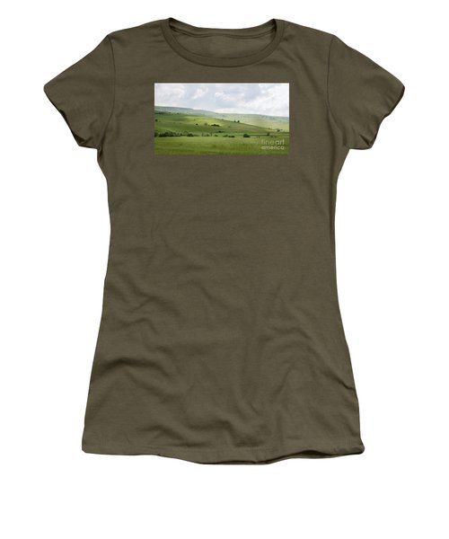 Rolling Landscape, Romania Women's T-Shirt (Athletic Fit)