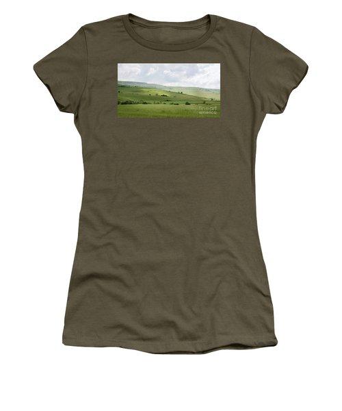 Rolling Landscape, Romania Women's T-Shirt (Athletic Fit)