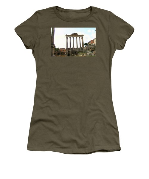 Women's T-Shirt featuring the mixed media Rome The Eternal City by Rosario Piazza