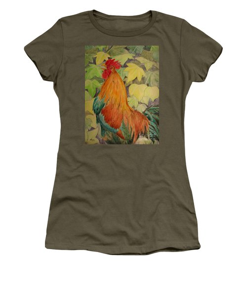 Rooster Women's T-Shirt (Junior Cut) by Laurianna Taylor