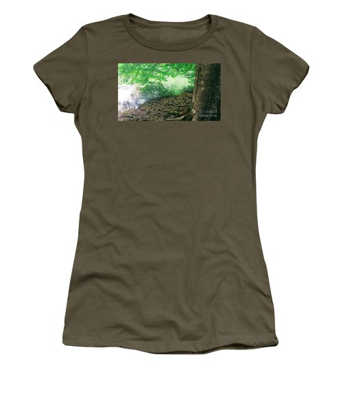 Roots On The River Women's T-Shirt (Junior Cut) by Rachel Hannah