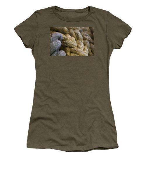 Rope  Women's T-Shirt (Junior Cut) by Henri Irizarri
