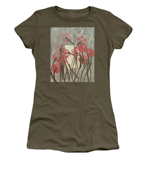Rose Field Women's T-Shirt (Junior Cut) by Artists With Autism Inc