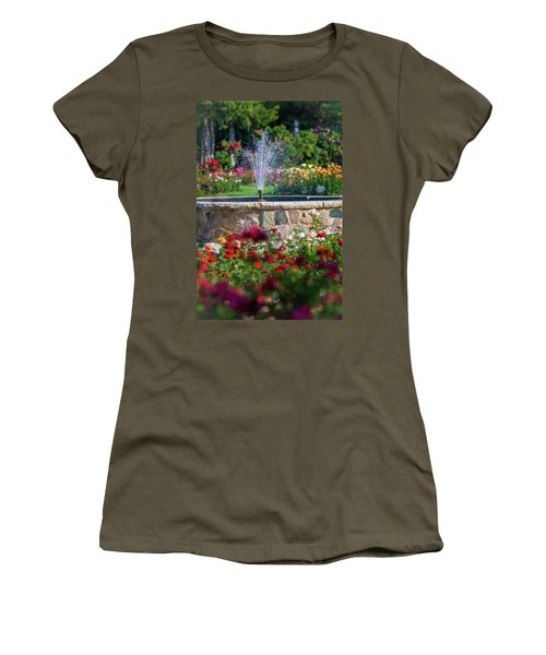 Rose Fountain Women's T-Shirt (Athletic Fit)