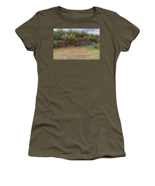Rose Garden Women's T-Shirt (Junior Cut) by Elaine Teague