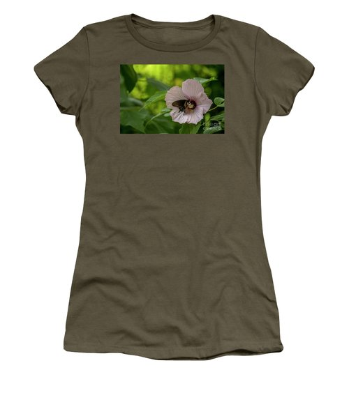 Rose Mallow Women's T-Shirt (Athletic Fit)