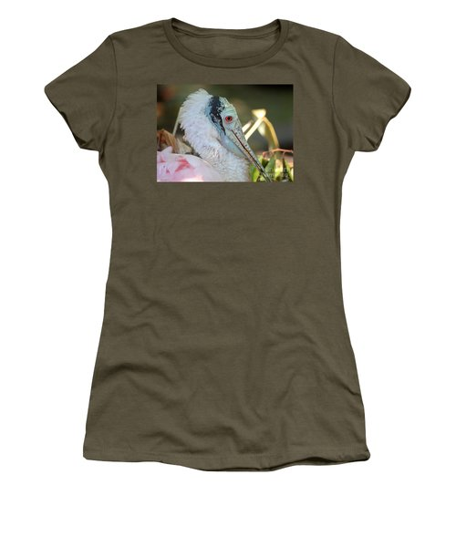 Roseate Spoonbill Profile Women's T-Shirt (Athletic Fit)
