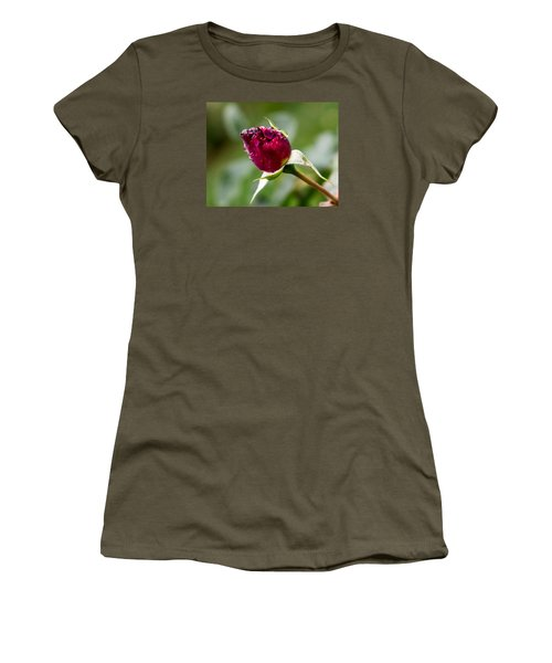 Women's T-Shirt (Junior Cut) featuring the photograph Rosebud by Cathy Donohoue