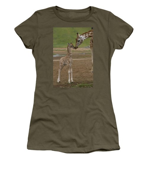 Women's T-Shirt featuring the photograph Rothschild Giraffe Giraffa by San Diego Zoo