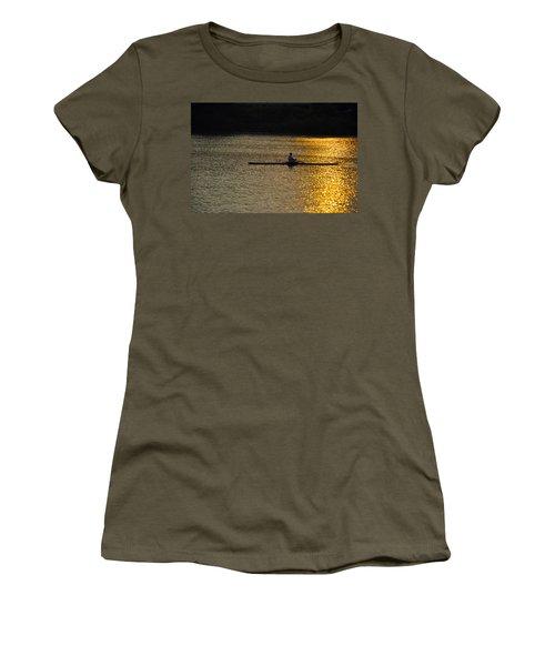 Rowing At Sunset Women's T-Shirt