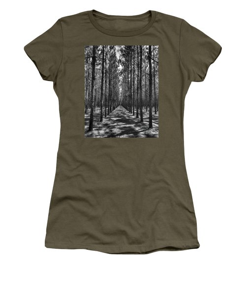 Rows Of Pines Vertical Women's T-Shirt