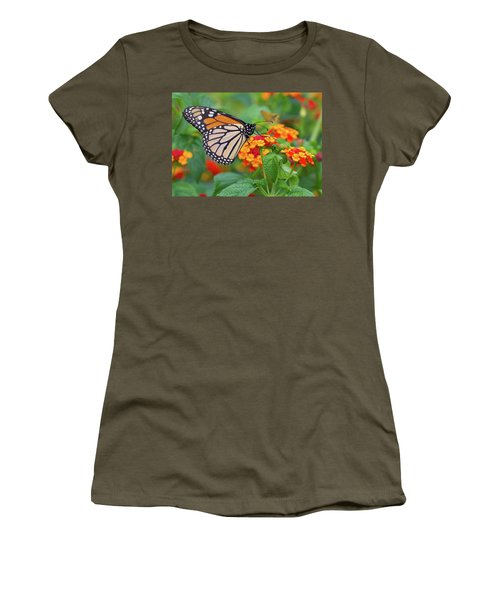 Royal Butterfly Women's T-Shirt (Junior Cut) by Shelley Neff